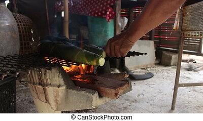 бамбук, стрелять, grilling