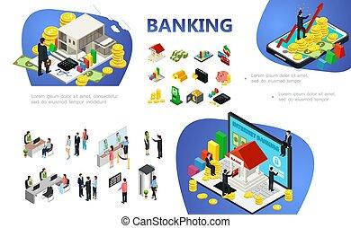 банковское дело, изометрический, состав
