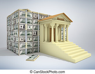 банковское дело, концепция, 3d