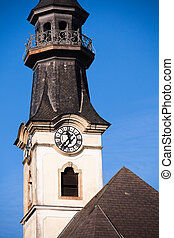 башня, часы