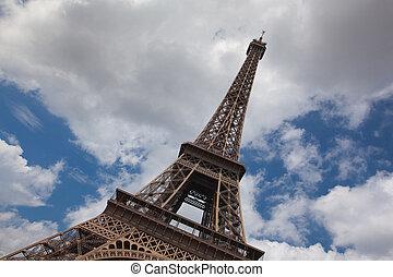 башня, eiffel, paris.