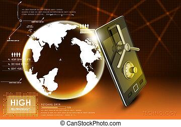 безопасность, концепция, данные