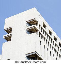 белый, здание, текстура