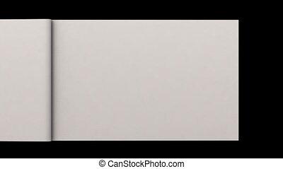 белый, пустой, pages, листать