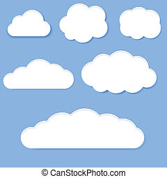 белый, clouds