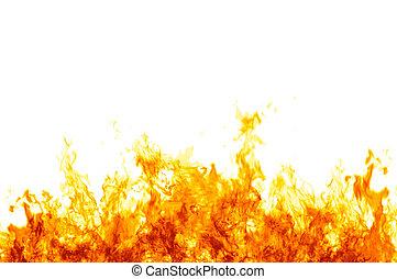 белый, flames