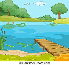 берег, озеро