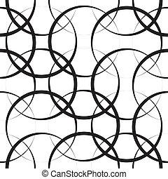 бесшовный, геометрический, шаблон
