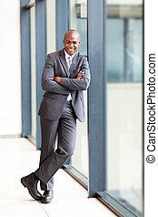 бизнесмен, американская, полный, длина, африканец