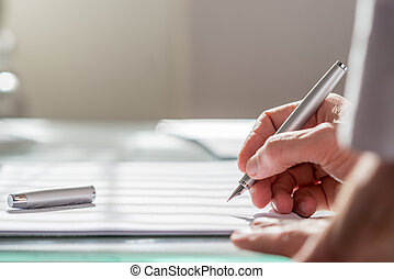 бизнесмен, документ, письмо