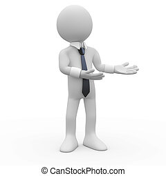 бизнесмен, pointing, руки