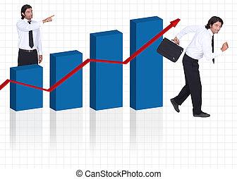 бизнес, в, прогресс