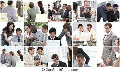 бизнес, команда, в, работа