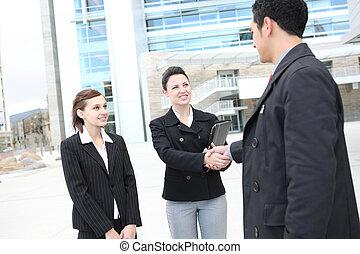 бизнес, команда, рукопожатие