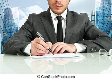 бизнес, контракт