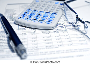 бизнес, концепция, -, финансовый, доклад