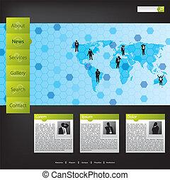 бизнес, концепция, web, шаблон