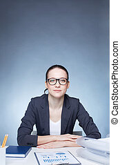 бизнес-леди, рабочее место