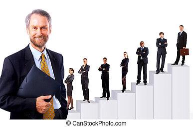 бизнес, люди, команда, and, diagram.