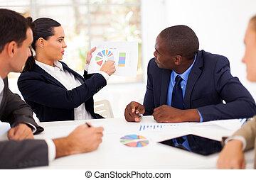 бизнес, люди, having, встреча