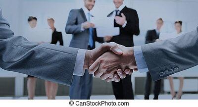бизнес, рукопожатие, and, бизнес, люди