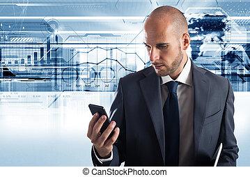 бизнес, сотовый телефон