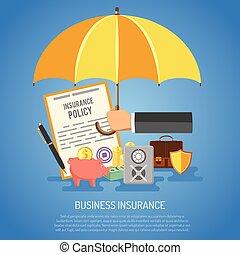 бизнес, страхование, концепция