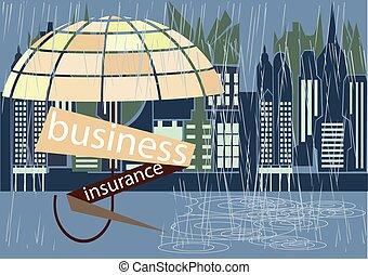 бизнес, страхование, обложка
