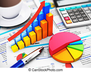 бизнес, финансы, and, учет, концепция