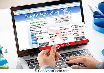 билет, концепция, рейс, бронирование, воздух