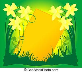 бледно-желтый, листва