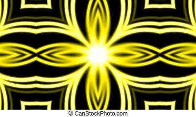 блеск, золотой, цветок, электричество