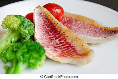 блюдо, рыба