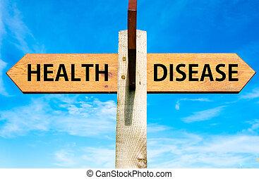 болезнь, против, здоровье