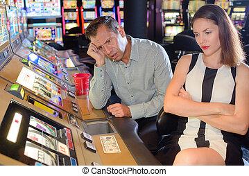 большой, потерял, в, , казино