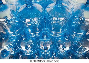 большой, пустой, воды, bottles, в, склад