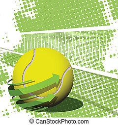 большой теннис, мяч