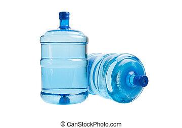 большой, bottles, of, воды