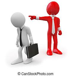 босс, dismissing, наемный рабочий