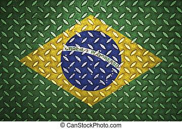 бразилия, стали, бриллиант, бесшовный, пластина