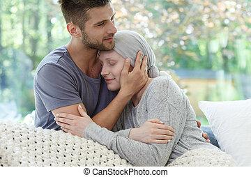 брак, создание семьи, борьба, рак, вместе