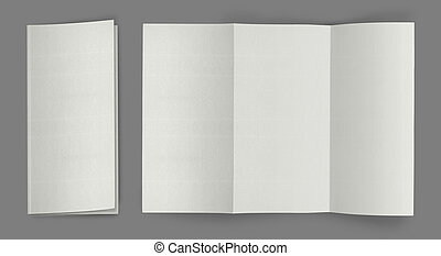 брошюра, сложить, листовка, пустой