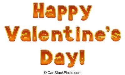 буквенное обозначение, счастливый, день, valentine's