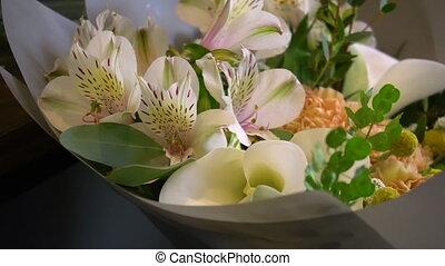 букет, красота, показать, sliding, камера, цветок