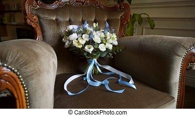 букет, свадебный, стул