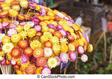 букет, цветы, рынок, красочный