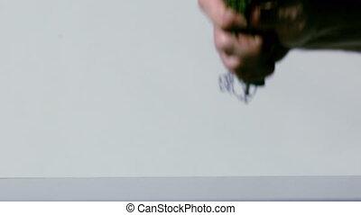 букет, цветы, smashing, рука