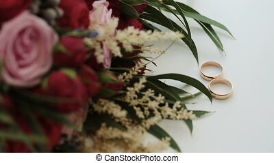 букет, roses, красный, свадьба