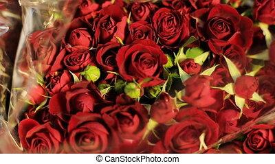 букет, roses, цветок, красный, красочный