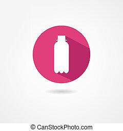 бутылка, значок